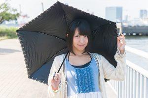 紫外線対策に日傘
